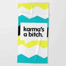 Karma Beach Towel