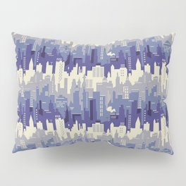 Amethyst abstract city ladscape Pillow Sham