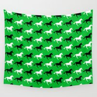 unicorns Wall Tapestries featuring Unicorns by Fabian Bross