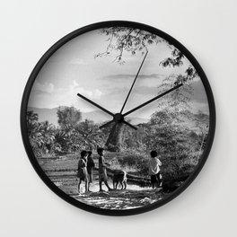 Vietnamese Kids of Central Highland Wall Clock