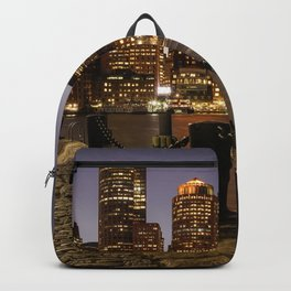 The Lights of Boston pier Backpack