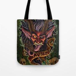 Red Krampus Tote Bag
