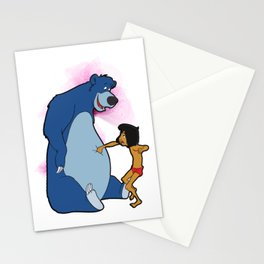 No Power , Baloo and Mowgli Stationery Cards