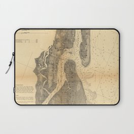 Vintage Map of St Augustine Harbor (1862) Laptop Sleeve