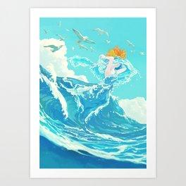 Marine bride Art Print