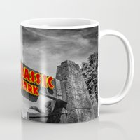 jurassic park Mugs featuring Jurassic Park by Mark A. Hyland (MAHPhoto)