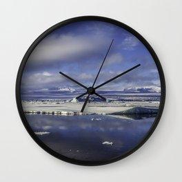 Glacial Lagoon 05 Wall Clock