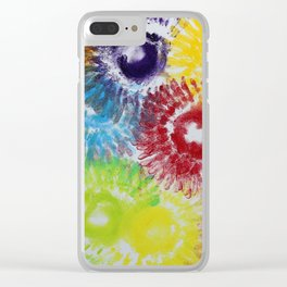 """Solstice"" Original oil finger painting by Monika Toth Clear iPhone Case"