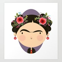 frida Art Prints featuring Frida by Maria Jose Da Luz