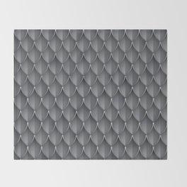 Medieval Fantasy   Metal scales  pattern Throw Blanket