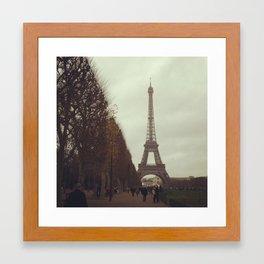 Rainy day in Paris Framed Art Print