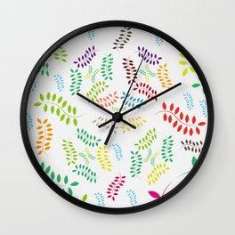 ORGANIC & NATURE (COLORS) Wall Clock