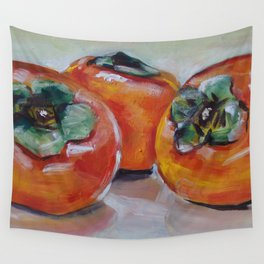 Food, fruit, persimmon, sweet, taste Wall Tapestry