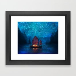 Our Secret Harbor Framed Art Print
