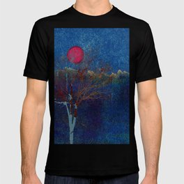 Abstract watercolor landscape with tree T-shirt