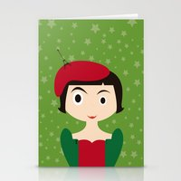amelie Stationery Cards featuring Amelie by Creo tu mundo