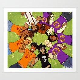 Olympus Heroes Art Print