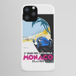 1933 Monaco Grand Prix Race Poster  iPhone Case