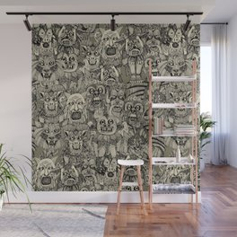 gargoyles vintage black Wall Mural