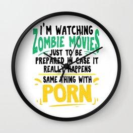 Zombie Sex Porn Single flirt film funny gift Wall Clock