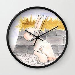 Long Haired Jackalope and baby Wall Clock