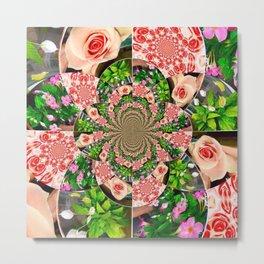 Rose Petal Mandala Metal Print