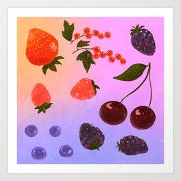 summer berries Art Print