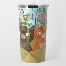 Carton Of Cute Kitties Travel Mug