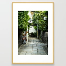 Laneways of Kyoto Framed Art Print