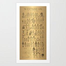 The Postmodern Pioneer Plaque Art Print