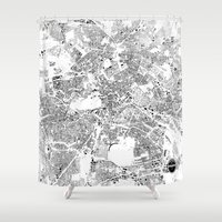 berlin Shower Curtains featuring BERLIN by Maps Factory