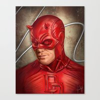 daredevil Canvas Prints featuring Daredevil by Vanessa Seixas