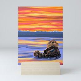 Otter Snack Mini Art Print