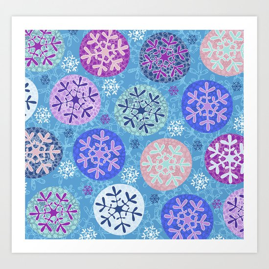 """Floral winter""design Art Print"