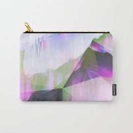 Lush Foliage Glitch - Green and Pink Carry-All Pouch