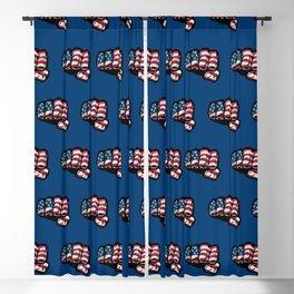 American Flag Fist Blackout Curtain
