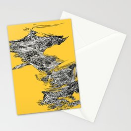 Waterfall in Yellow Stationery Cards