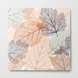 Autumn's Falling Leaves Metal Print