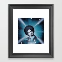 Mac Dre stencil art portrait print  Framed Art Print