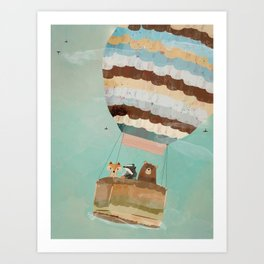 a little wondrous adventure Art Print