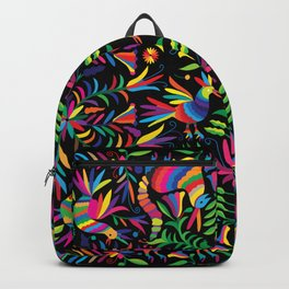 Otomi (Mexican print) - Black Backpack