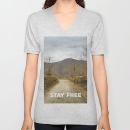 Autumn road Unisex V-Neck