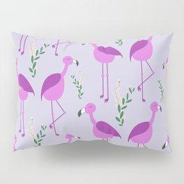 Flattering Flamingos - Purple Pillow Sham