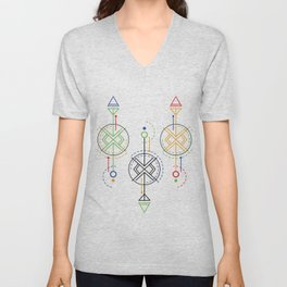 geometrical optics Unisex V-Neck
