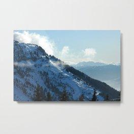 Snowy Slope Metal Print