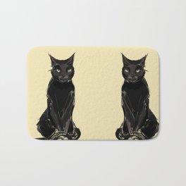 Black Cat Bath Mat