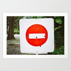 Red And White Stop Sign Art Print