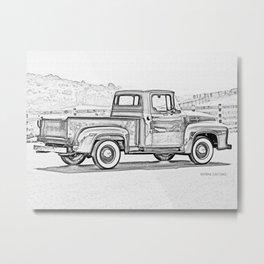 1956 F0RD F100 Pickup Truck Metal Print