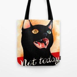 Not Today, Satan! Tote Bag