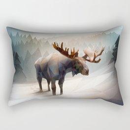 Moose (Low Poly Mystical) Rectangular Pillow